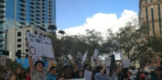 Protest against gun violence at Curtis Hixon Park in Tampa in February