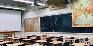 high school classroom, school, education