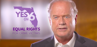 Actor Kelsey Grammer cut an ad in Florida for Marsy's Law